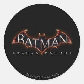 Batman Arkham Knight Logo Classic Round Sticker