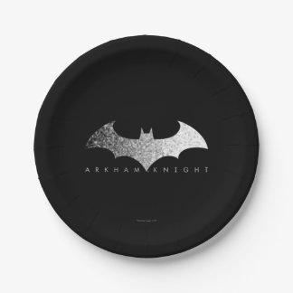 Batman Arkham Knight Pixel Logo 7 Inch Paper Plate