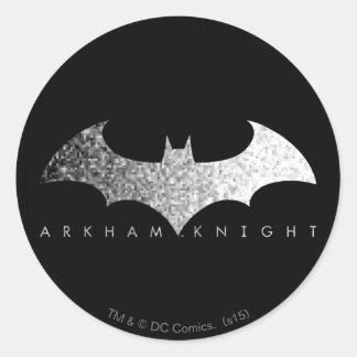 Batman Arkham Knight Pixel Logo Classic Round Sticker