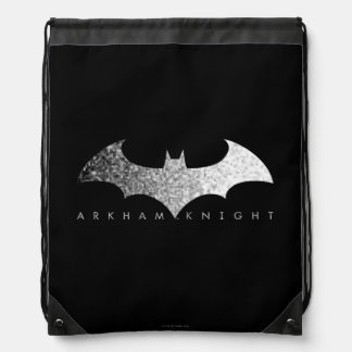 Batman Arkham Knight Pixel Logo Drawstring Bag