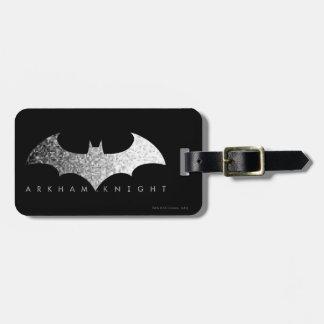 Batman Arkham Knight Pixel Logo Luggage Tag