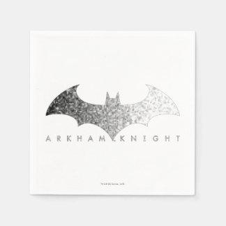 Batman Arkham Knight Pixel Logo Paper Napkins
