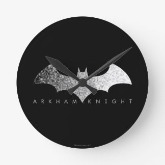 Batman Arkham Knight Pixel Logo Round Clock