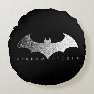 Batman Arkham Knight Pixel Logo Round Cushion