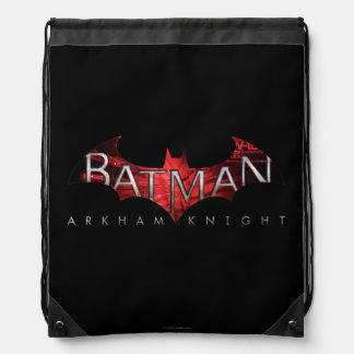 Batman Arkham Knight Red Logo Drawstring Bag