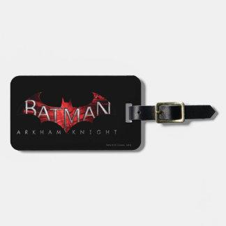 Batman Arkham Knight Red Logo Luggage Tag
