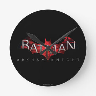 Batman Arkham Knight Red Logo Round Clock