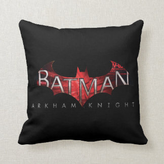 Batman Arkham Knight Red Logo Throw Pillow