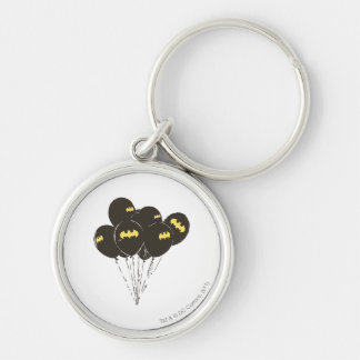 Batman Balloons Silver-Colored Round Key Ring
