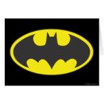 Batman Bat Logo Oval Greeting Card
