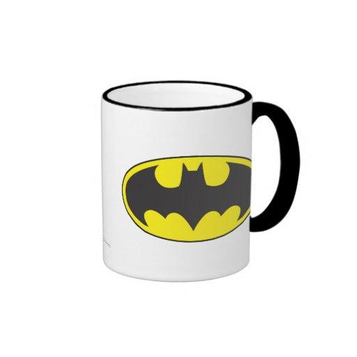 Batman Bat Logo Oval Ringer Coffee Mug