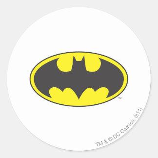 Batman Bat Logo Oval Round Stickers