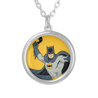 Batman Batarang Silver Plated Necklace