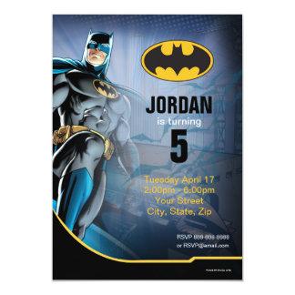 Batman Birthday 13 Cm X 18 Cm Invitation Card
