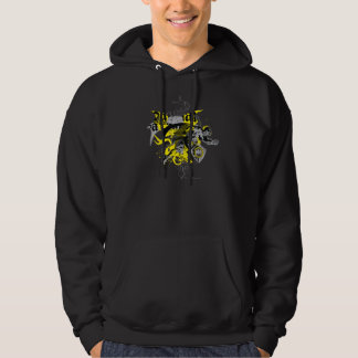 Batman Black and Yellow Collage Hoodie