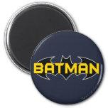 Batman Black and Yellow Logo 6 Cm Round Magnet