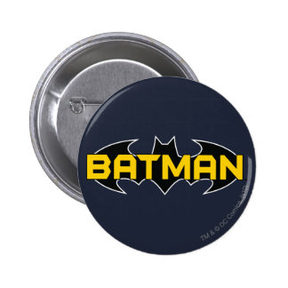 Batman Black and Yellow Logo Button