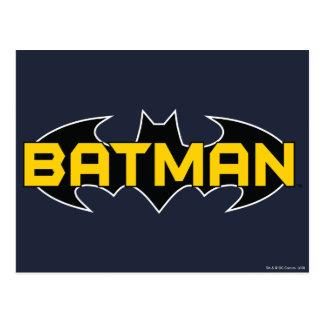 Batman Black and Yellow Logo Postcard