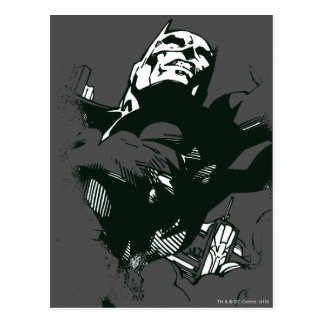 Batman Black & White Graffiti Stencil Postcard