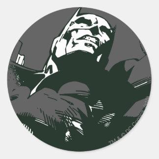 Batman Black & White Graffiti Stencil Round Sticker