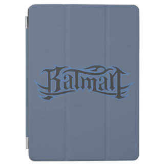 Batman | Blue Black Letters Logo iPad Air Cover