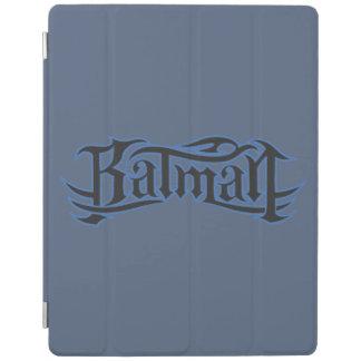Batman | Blue Black Letters Logo iPad Cover