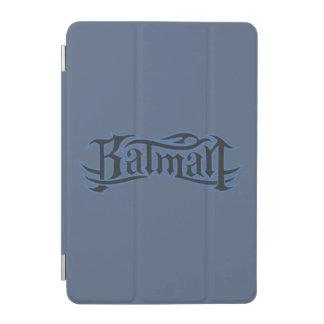 Batman | Blue Black Letters Logo iPad Mini Cover