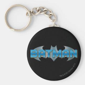 Batman | Blue Name Logo Key Ring