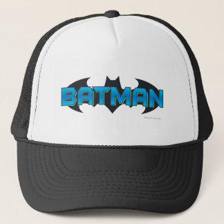 Batman   Blue Name Logo Trucker Hat