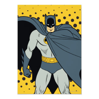 Batman Cape 13 Cm X 18 Cm Invitation Card