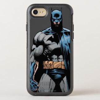 Batman cape over one side OtterBox symmetry iPhone 8/7 case