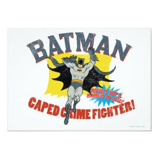 Batman Caped Crime Fighter 13 Cm X 18 Cm Invitation Card