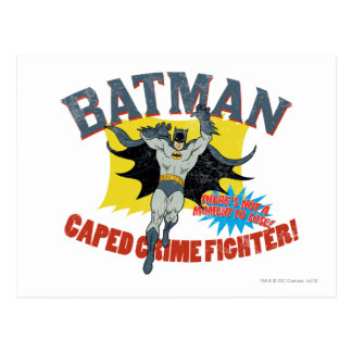 Batman Caped Crime Fighter Postcard