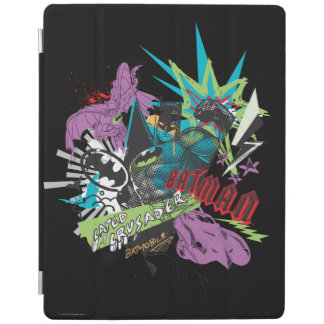 Batman Caped Crusader Neon Collage iPad Cover