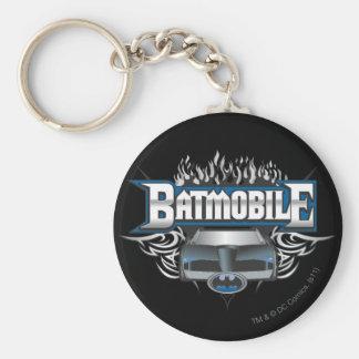 Batman Car and Flames Key Ring