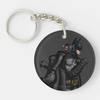 Batman & Catwoman Double-Sided Round Acrylic Key Ring