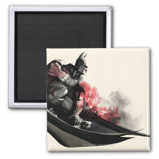 Batman City Smoke Square Magnet