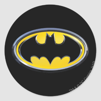 Batman Classic Logo Round Stickers