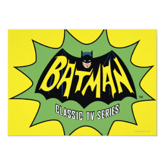 Batman Classic TV Series Logo 13 Cm X 18 Cm Invitation Card