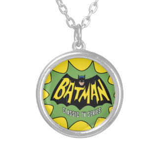 Batman Classic TV Series Logo Silver Plated Necklace