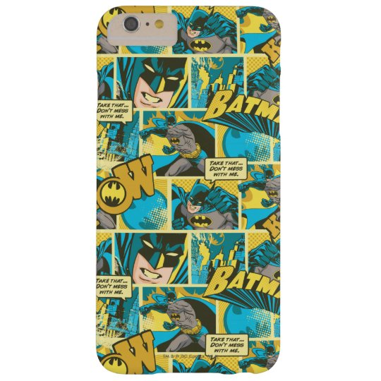 Batman Comic Capers Pattern 2 Barely There iPhone 6 Plus Case