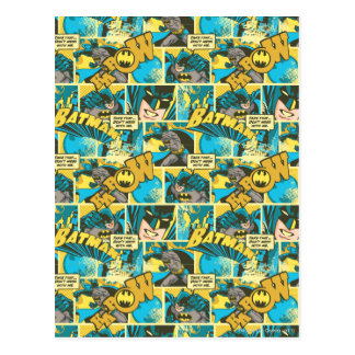Batman Comic Capers Pattern 2 Postcards