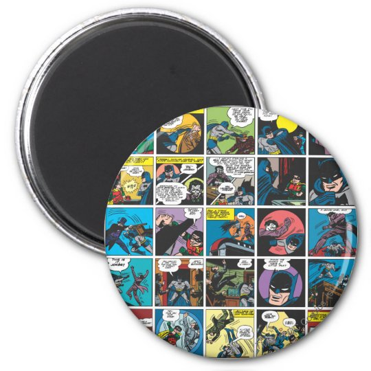 Batman Comic Panel 5x5 6 Cm Round Magnet