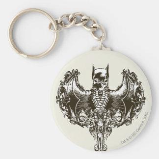Batman Cowl and Skull Crest Key Ring