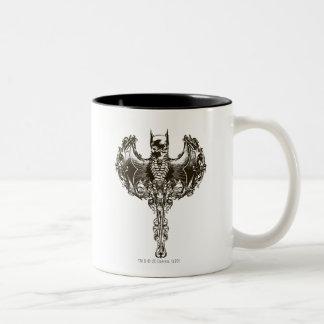 Batman Cowl and Skull Crest Two-Tone Coffee Mug