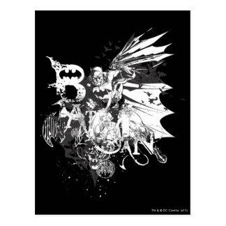 Batman Crazy Collage Postcard