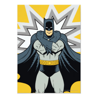 Batman Cross Arms 13 Cm X 18 Cm Invitation Card