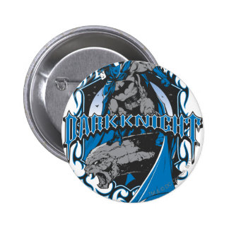Batman Dark Knight | Blue Grey Logo 6 Cm Round Badge