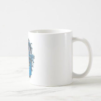 Batman Dark Knight | Blue Grey Logo Basic White Mug