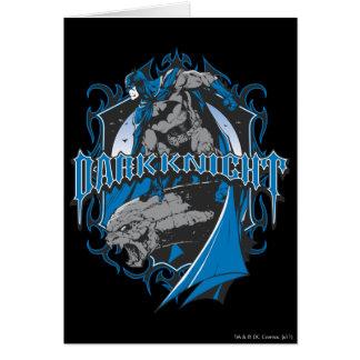 Batman Dark Knight | Blue Grey Logo Greeting Card
